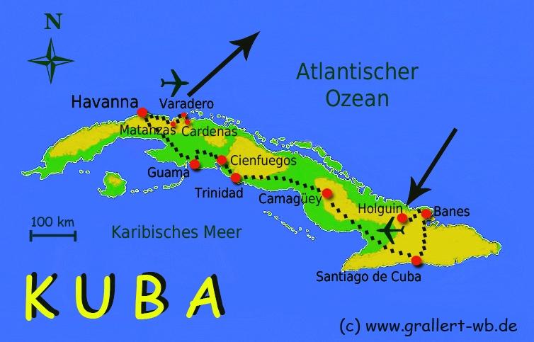 Kuba Karte Rundreise.Kuba 2010 Willkommen Bei Grallert
