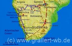 000Karte 24 Tage VicFalls-Botswana-Namibia-Kapstadt