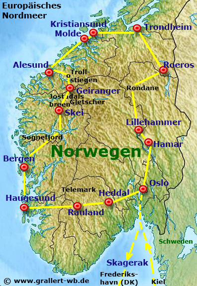 Karte Südnorwegen.Norwegen 2011 Willkommen Bei Grallert