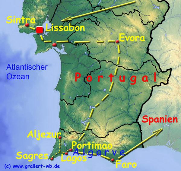 Karte Andalusien Portugal.2015 Portugal Und Andalusien Willkommen Bei Grallert