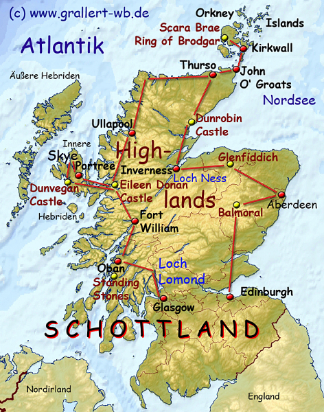 Tour Of Northern England And Scotland